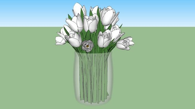 Large preview of 3D Model of VASO COM TULIPAS