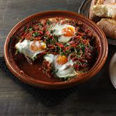 Moroccan meatball and egg tajine
