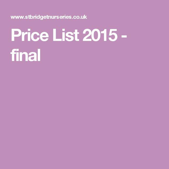 Price List 2015 - final