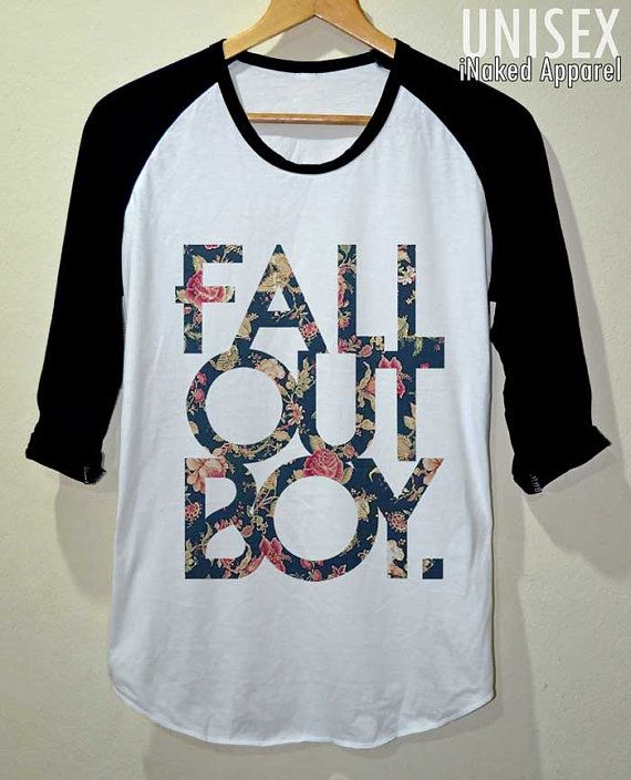 FOB Shirt Fall Out Boy Flower Vintage T Shirt 3/4 by iNakedapparel I GOTTA HAVE THIS IS MY CLOSET