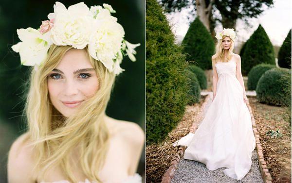 :flowers in hair