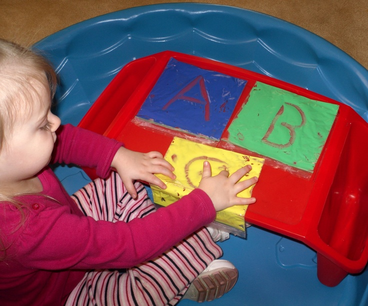 how to make paint in ziplock preschool