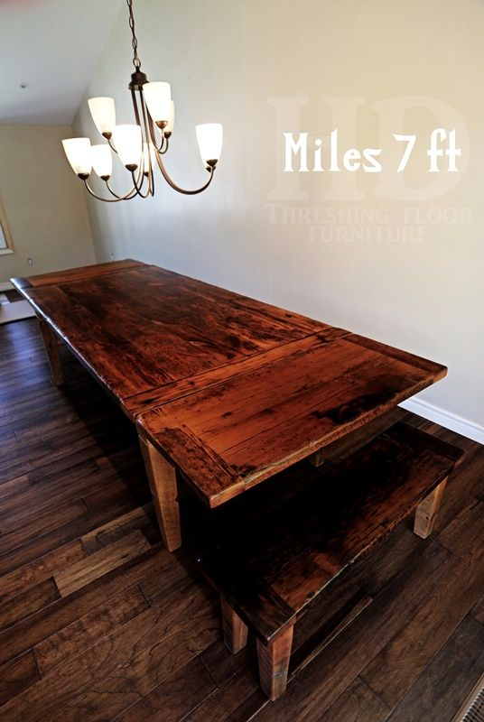 Reclaimed Wood Harvest Table With Epoxy/polyurethane Finish In Guelph  Ontario Barnwood Cambridge,ON