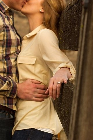 Engagement ring shot... Rustic fence