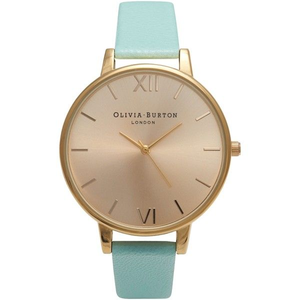 Olivia Burton OB14BD22 Women's Big Dial Watch, Mint ($125) ❤ liked on Polyvore featuring jewelry, watches, accessories, mint green watches, olivia burton, olivia burton watches, polish jewelry and dial watches