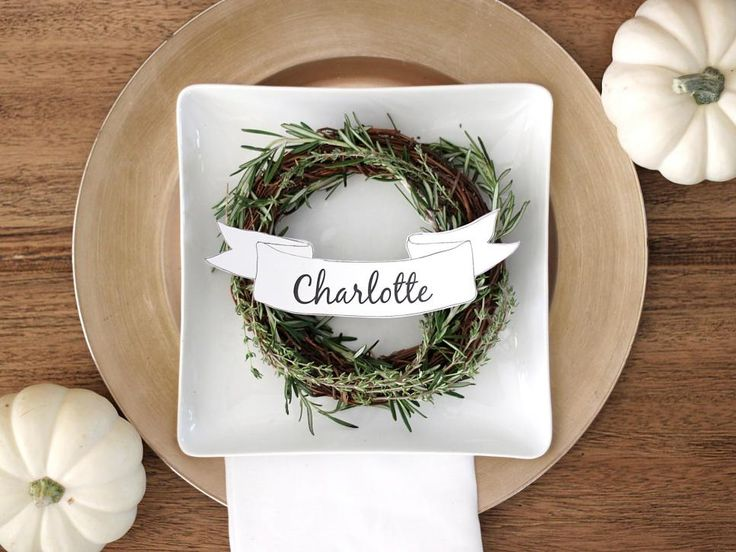 DIY Network shares free printable name card templates you can use on your Thanksgiving or holiday table.