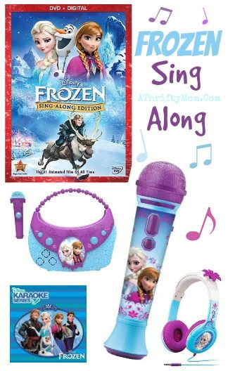 Frozen Sing along  headphones, microphone, DVD,and more, because that LET IT GO SONG is fun to sing #Kids Gift Idea, #Stocking Stuffer #Elsa