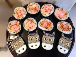Horses and roses sushi roll