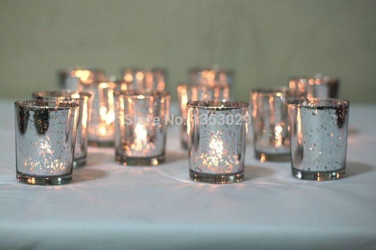 Spedizione gratuita votive di vetro supporto di candela per la cerimonia nuziale/Chirstmas/dinner decoration/candeliere centrotavola