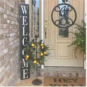 Vertical Porch Welcome Sign