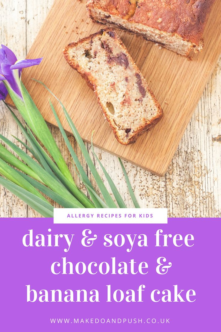 Dairy and Soya Free Chocolate and Banana Loaf Cake