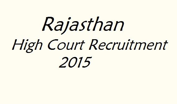 Name of Recruit Department- Rajasthan High Court, Jodhpur