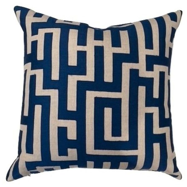 Navy/Cream Geometric Pillow ❤ liked on Polyvore featuring home, home decor, throw pillows, transitional home decor, navy blue throw pillows, geometric throw pillows, navy blue toss pillows and off white throw pillows