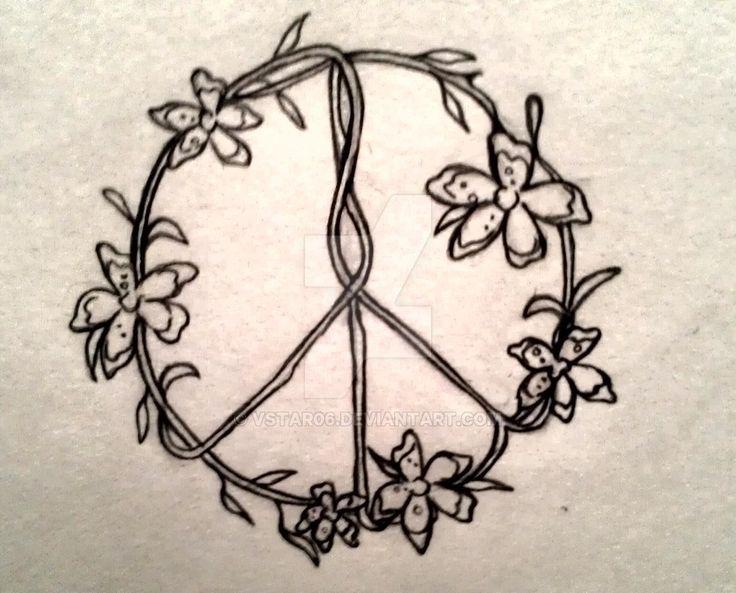 flower peace sign by vstar06