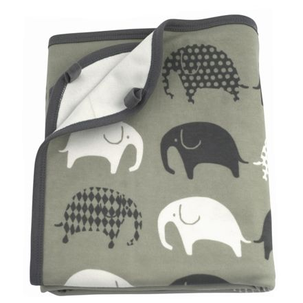 Littlephant Jersey Elephant Grey Blankets now in the sale at Northlight Homestore