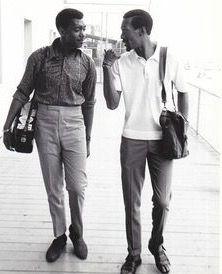 Otis Williams and Eddie Kendricks, original Temptations