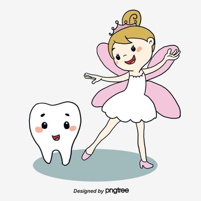 Gambar Peri Kecil Dan Gigi Fairy Clipart Kartun Gigi Png Dan Psd Untuk Muat Turun Percuma Fada Dos Dentes Fadas Desenho Animado