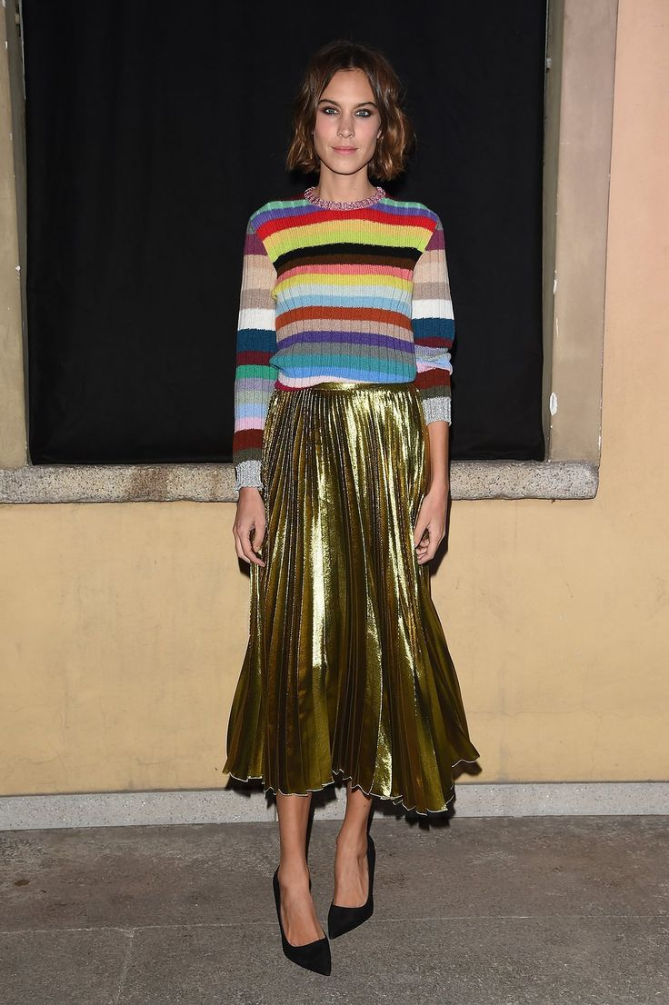 WHO: Alexa Chung WHAT: Gucci WHERE: Gucci dinner honoring Alessandro Michele WHEN: September 23, 2015