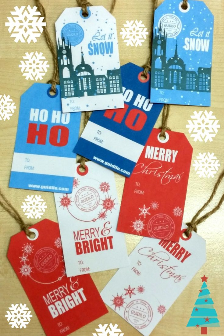 Check out these cool free printable #Christmas #tags on our blog. Download and follow the easy tutorial to make your own Christmas tags this year! http://goo.gl/OxXtKt