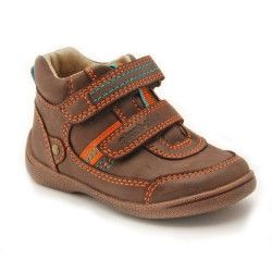 Super Soft Max Brown Leather First Walking Children's Boots
