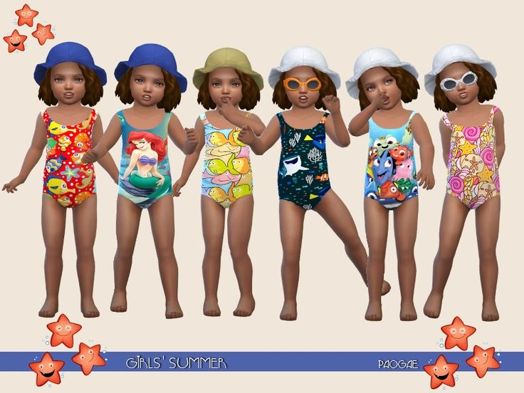 A funny swimwear for your little girls, to wear at the beach or pool ... even if they can not swim! Found in TSR Category 'Sims 4 Toddler Female'