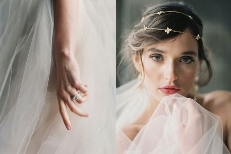 Classy gold hair piece for bride | Liv Hart 2016 Collection via @FlyAwayBride