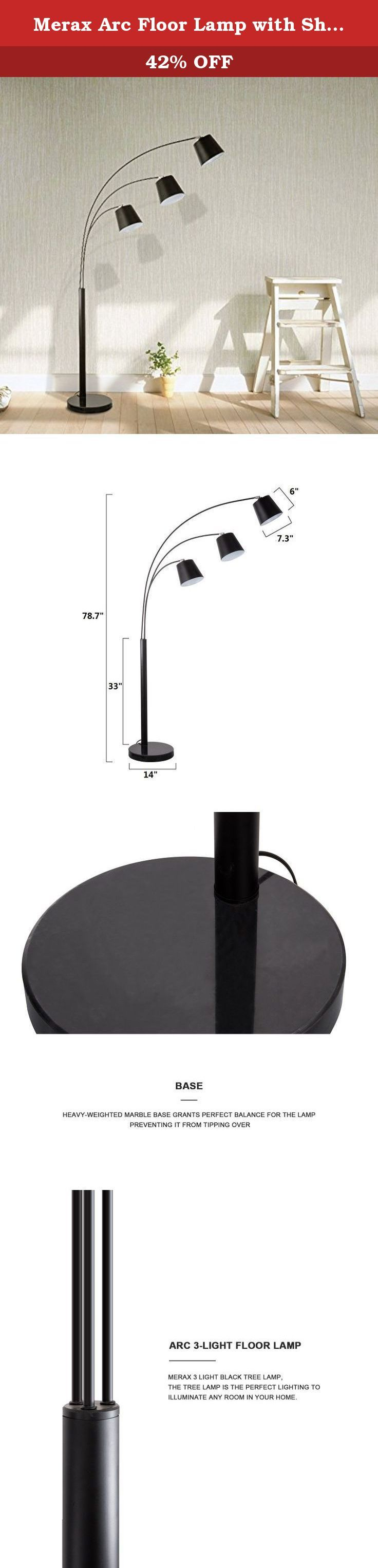 Merax Arc Floor Lamp with Shade and Heavy-duty Base Floor Reading Lamp (Floor Lamp). ETL-US certified Upgrade your living room with this simple, sleek modern arched floor lamp. This lamp is perfect addition to any home or office. Brighten up a dull corner or create an entirely new contemporary feel in your favorite living space with this exceptional arched brushed steel floor lamp. With an arch so dramatic you will think you are looking at a piece of modern art, this lamp will provide…