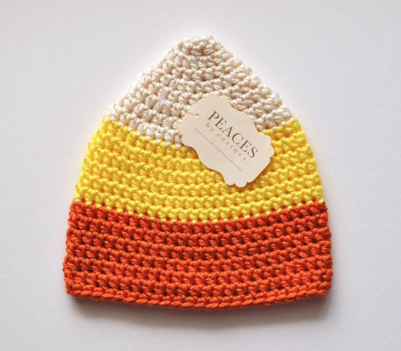 Candy Corn  Baby Beanie / Baby Hat / Newborn Hat  by Peaces by Cortney www.etsy.com/shop/peacesbycortney
