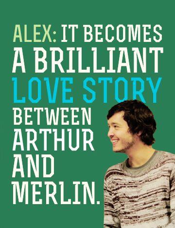 , Merlin Cast on Merthur: Alex Vlahos and Eoin...