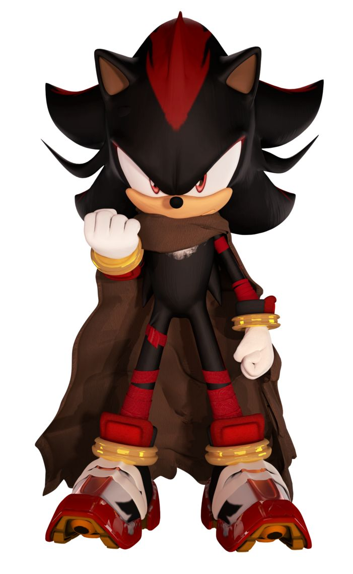 Who agrees this should be shadow's new look in Sonic Boom? The cape is a nice touch and does anyone notice his gold rings on his wrists look like tape dispensers a bit? :D