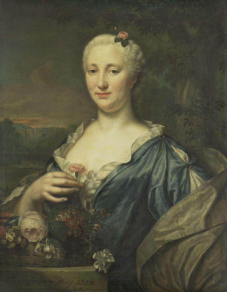 Portrait of Agnes Margaretha Albinus, Wife of Coenraad van Heemskerck, Mattheus Verheyden, 1750
