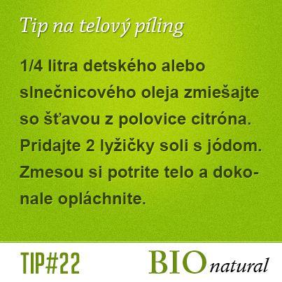 Tip na domáci telový píling