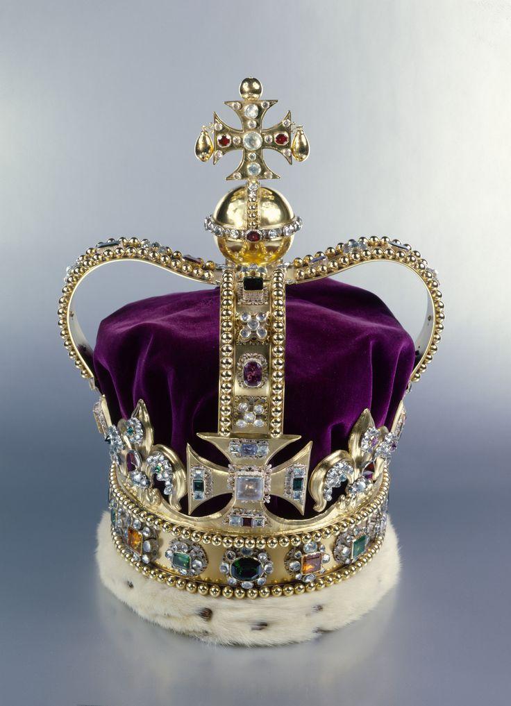 t Edward's Crown. Gold, silver, platinum, enamel ...