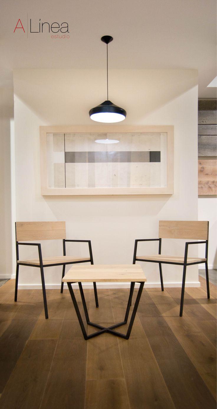 #Mueblesdediseño elaborados a partir de tarima de madera. La combinación del metal con la madera. Elaborados por el #EstudioAlinea