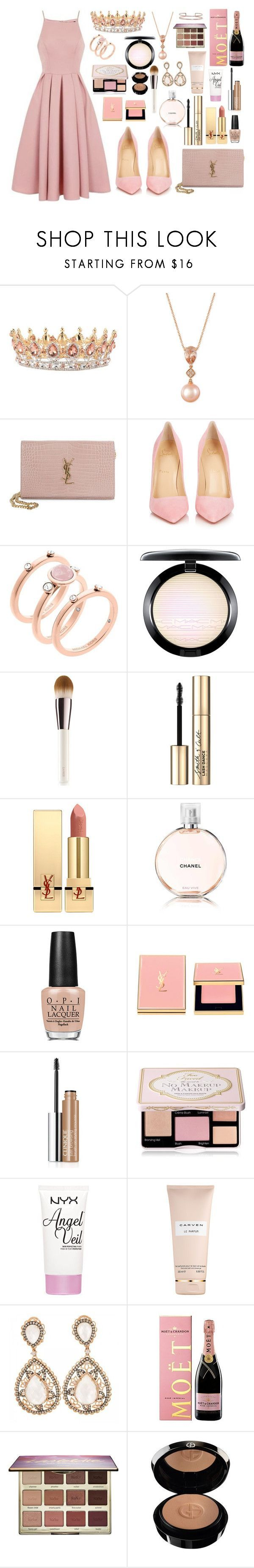 """""""Always a Bridesmaid - 2042"""" by thecaitlinpeters ❤ liked on Polyvore featuring Chi Chi, LE VIAN, Yves Saint Laurent, Christian Louboutin, Michael Kors, MAC Cosmetics, La Mer, Smith & Cult, Chanel and OPI"""