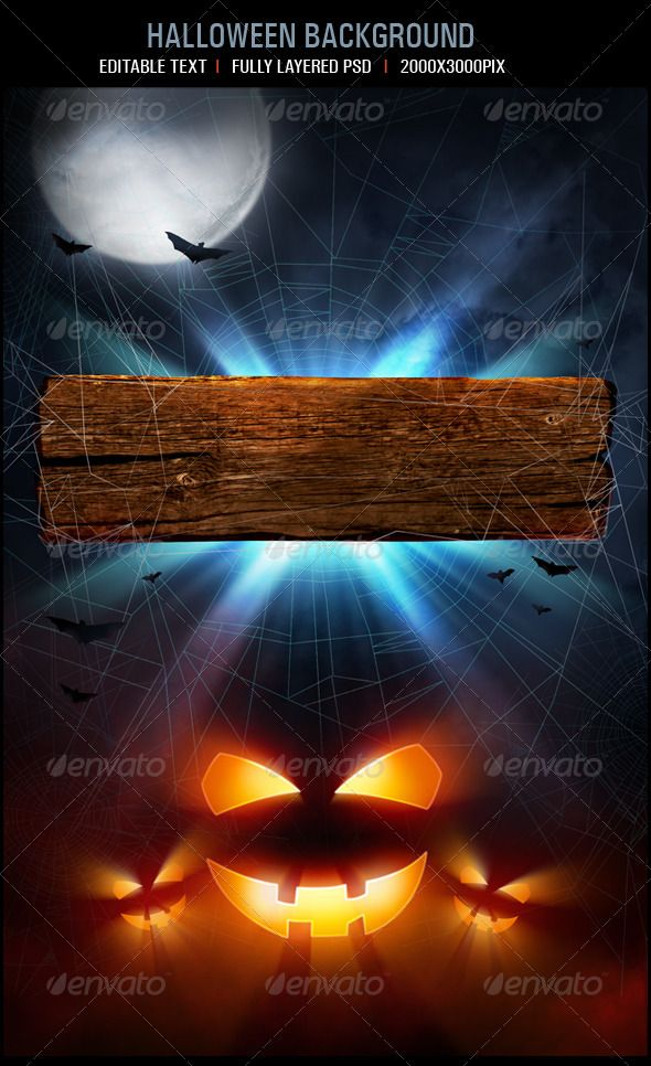 Halloween Background  #GraphicRiver         Fully layered PSD   	 Neat arranged layers  	 2000×3000 pixels  	 if you like it please rate it     Created: 5September12 GraphicsFilesIncluded: PhotoshopPSD HighResolution: No Layered: Yes MinimumAdobeCSVersion: CS PixelDimensions: 2000x3000 PrintDimensions: 6.6x10 Tags: background #flyer #halloween #halloweenposter #night #party #partytemplate #poster #pumpkin #template #web