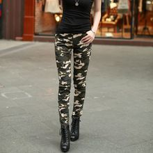New Army Fashion Women Pants Female Casual Military Denim Trousers Tight Elastic High Waist Camouflage Pencil Pants for Women(China (Mainland))