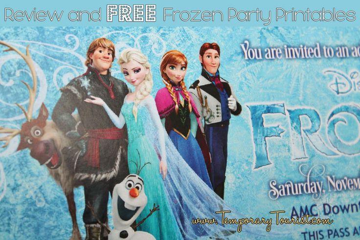 cricut Disney Frozen | Frozen Themed Party Printable Set FREE ~ Homeketeers ~ #Free # ...