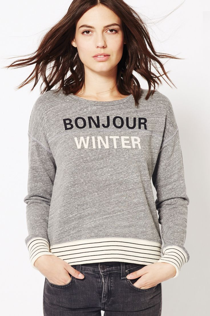 Bonjour Winter Striped Rib Pullover from Sundry