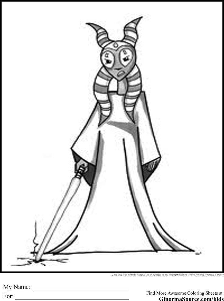 Star Wars Coloring Pages Shaak