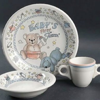 Babyu0027s First Fiesta® made in the USA by Homer Laughlin China Company | Replacements & 231 best Fiesta® / Homer Laughlin China: Childrenu0027s Fiesta ...