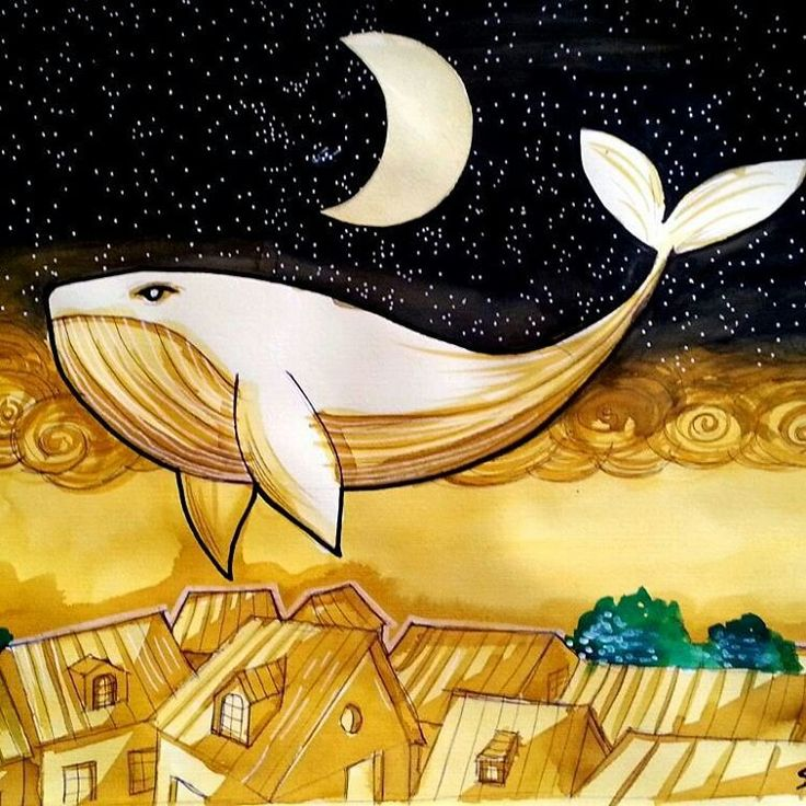 balena, illustrazione di Cristiano Schiavolini