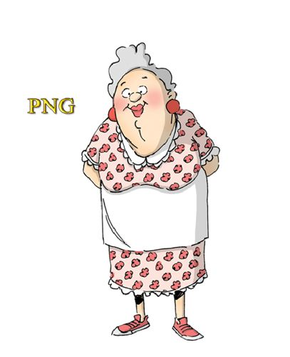 Funny old people vector clipart