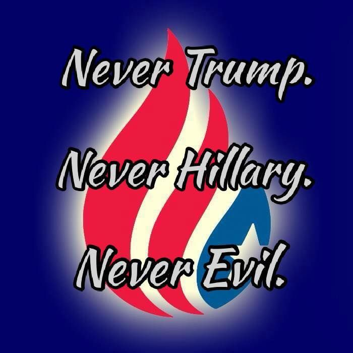 Never Trump, Never Hillary. Never evil. Bernie Sanders is the only ethical choice.