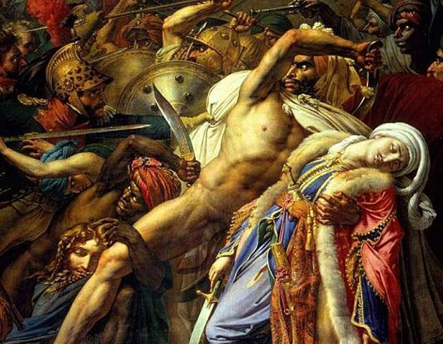 Anne-Louis Girodet de Roussy-Trioson, Revolt in Cairo on 21 October 1798 (detail), 1810