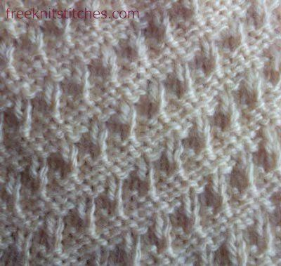 Jaggies knitting stitches ~ click thru for the chart and the instructions