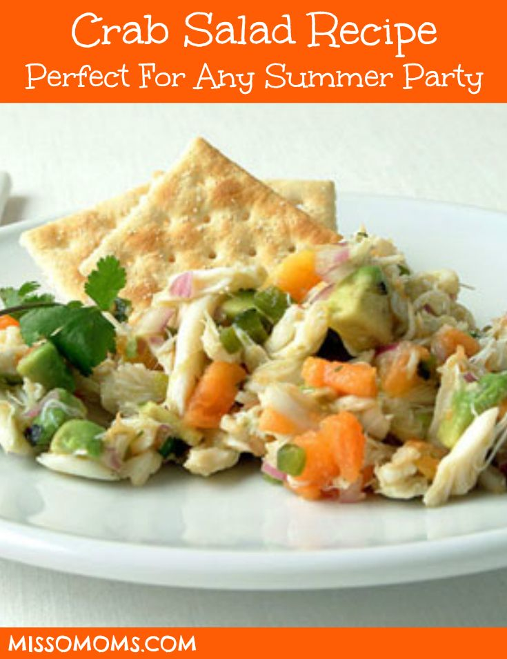 Looking for a great crab salad recipe to serve as an appetizer with some crackers? Here is a recipe for crab salad that is fairly easy to prepare! http://www.missomoms.com/crab-salad-recipe/ #salad #recipe