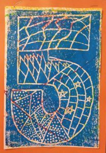 Paintbrush Rocket |   4th Grade – Jasper Johns Number Prints
