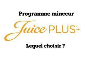 Programme minceur Juice Plus : Lequel choisir ?