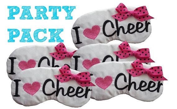 Cheerleader Spirit Gifts I Heart Cheer by EmbroideryBySabrina, $42.00